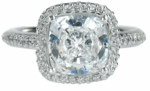 Hamilton 4 ct. Cushion Square Solitaire
