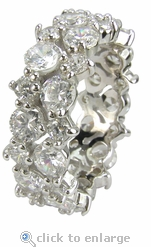 Aretha Prong Set Round Cubic Zirconia Garland Cluster Eternity Band