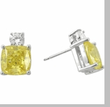 4 carat each Kyra Stud Earrings