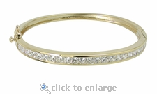 Celine Bangle Bracelet Featuring Ziamond Cubic Zirconia
