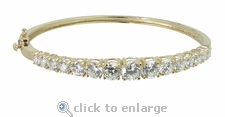Greta Bangle Bracelet (Small Version) Featuring Ziamond Cubic Zirconia