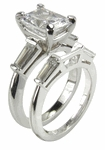 Sex And The City Charlotte 2.5 ct. Center With Matching Band