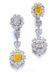 Cubic Zirconia Earrings, Fancy Designer Style