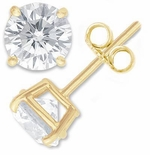 Classic Basket Set Cubic Zirconia Stud Earrings