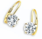 Cubic Zirconia Lever Back Earrings, Euro Wire Earrings