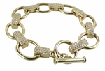 Pave Toggle Bracelet Featuring Ziamond Cubic Zirconia