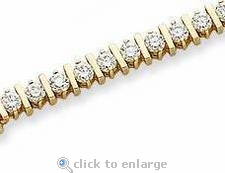 Bar Bracelet Featuring Ziamond Cubic Zirconia