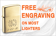 Free Engraving on most Lighters