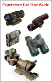 offers discount binoculars, rifle scopes, spotting scopes, rangefinders, night vision.
