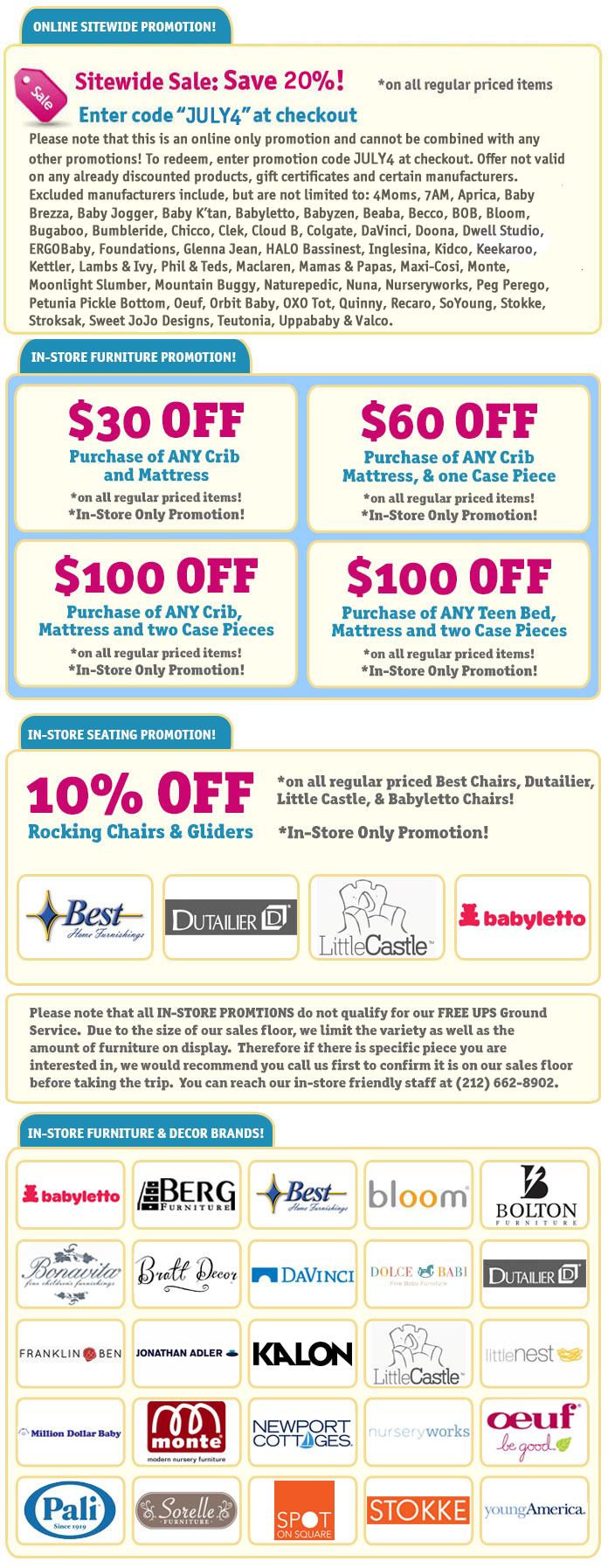 Sitewide Sale! Enter coupon code JULY4 at checkout to save 20% on your Albee Baby Purchase