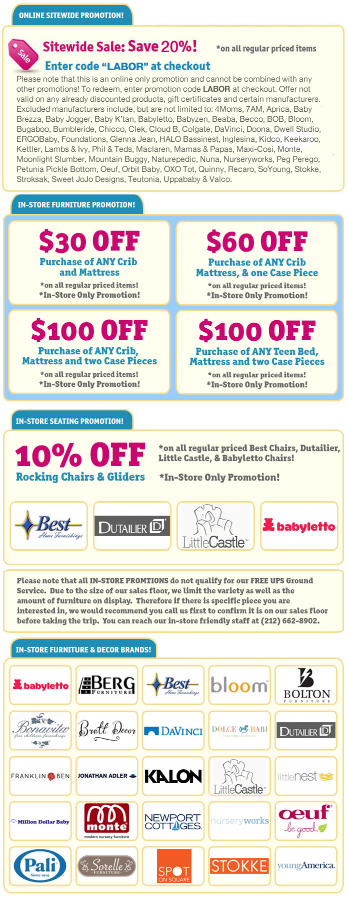 Labor Day Sale! Enter coupon code LABOR at checkout to save 20% on your Albee Baby Purchase