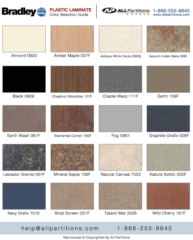 Formica Plastic Laminate Color Chart