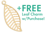 Gift with Purchase: 27mm Satin Hamilton Gold-Plated Pewter Leaf Charm