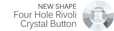 Four-Hole Rivoli Crystal Button