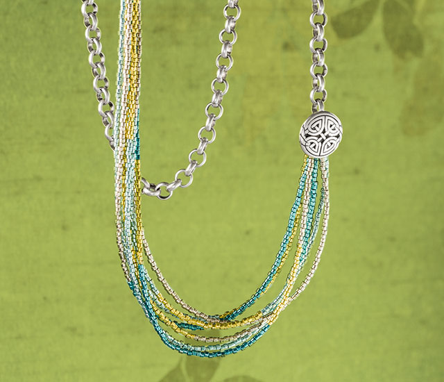 New Seed Bead Necklace-Drape