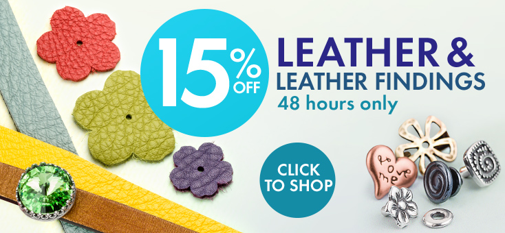 15% Off Leather and Findings