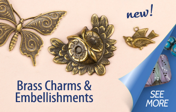 New Brass Charms and Embellishments
