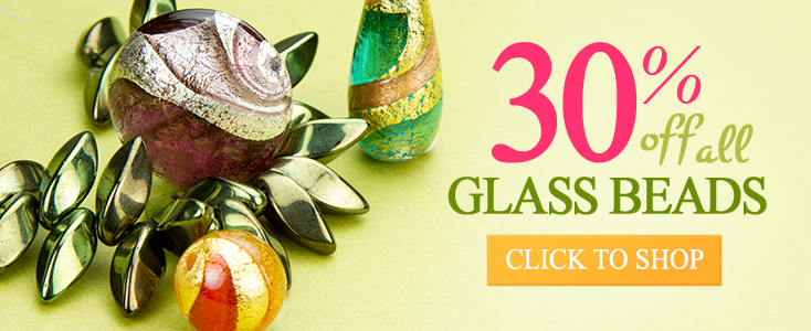 30% Off All Glass Beads and FREE Seed Bead Pattern