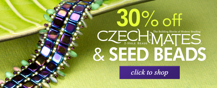 30% Off CzechMates and Seed Beads