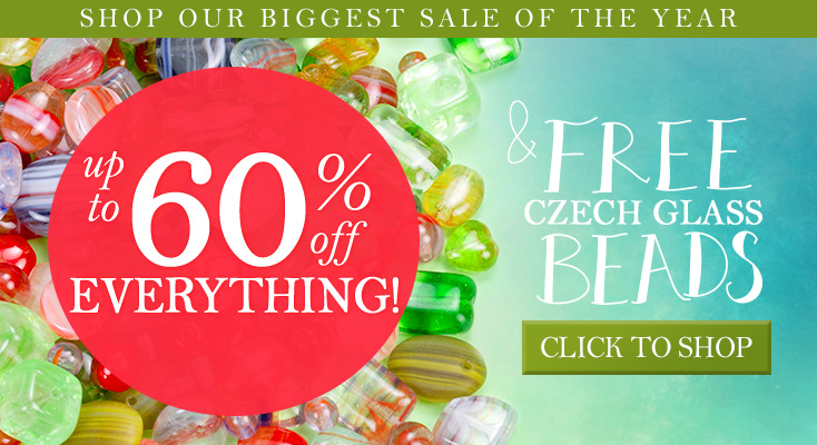 Thanksgiving Sale up to 60% Off Everything and FREE Glass Beads with Purchase
