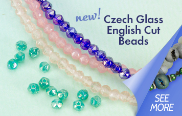 New Czech Glass English Cut Beads