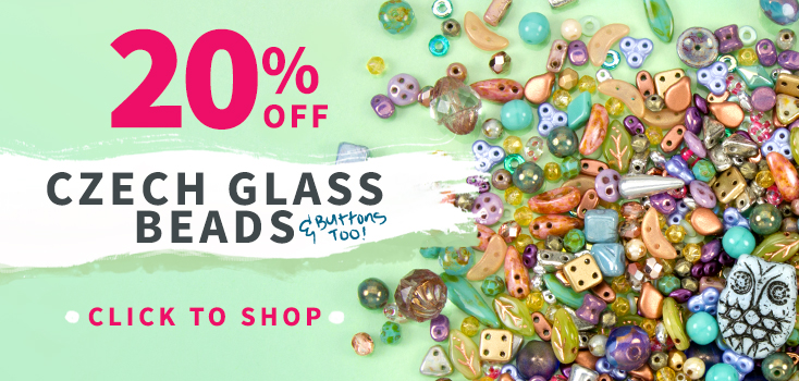 20% Off All Czech Glass