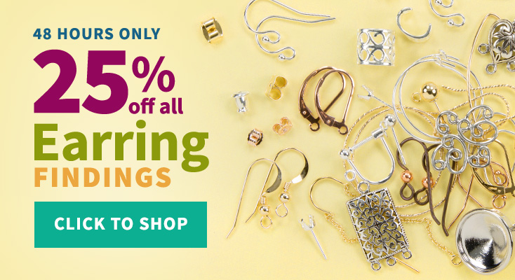 25% Off All Earring Findings