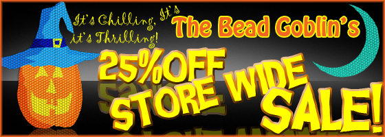 Shop today at Brightlings Beads for a 25% Off Storewide Sale - Happy Halloween!