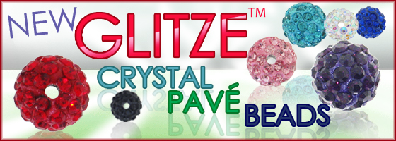 Shop today at Brightlings Beads for Glizte Pave Beads huge selection of colors!