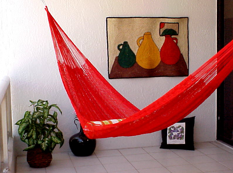 Bright Red Mayan Hammock