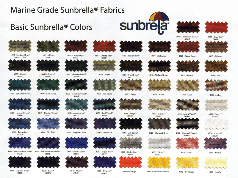 Click on to enlarge color swatches.