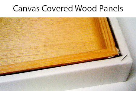 CanvasPlace canvas covered wood panels