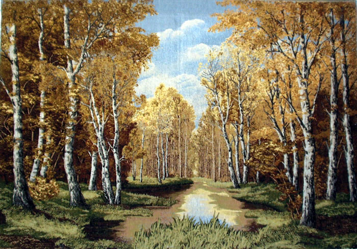 Large Wall Tapestry Beautiful Autumn Scenery #2, 43in X 30in
