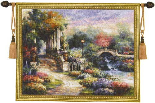 Tapestry Classic Garden Retreat - Beautiful Garden Picture, 53in X 68in