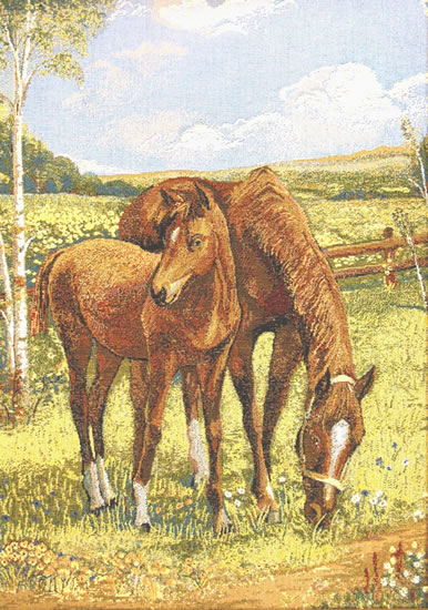 Horse Tapestry Wall Hanging Summer Peasant Picture