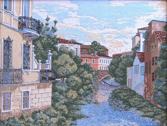 Wall Tapestry Padua Italian Town Picture, 16in X 22in