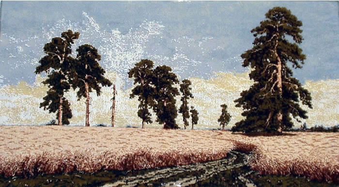 Wall Tapestry Rerpoduction Rye Field - Landscaping Painting By Shishkin, 20in X 35.5in