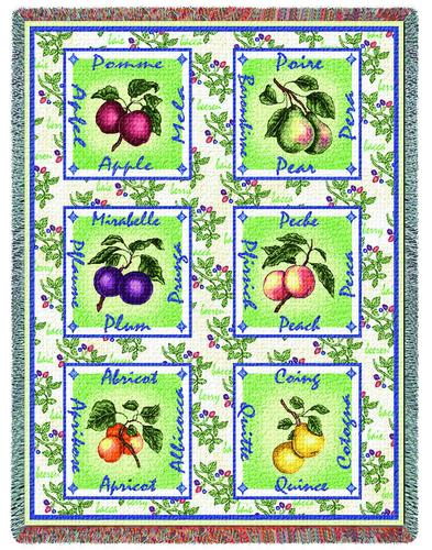 Alsacian Fruit Tapestry Throw, 54in x 70in