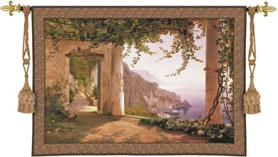Amalfi Dai Cappuccini Seaside Wall Tapestry, 78in X 53in