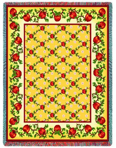Apple Season Tapestry Throw, 53in x 70in