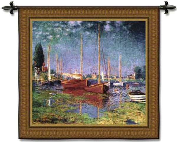 Argenteuil Impressionist Tapestry Wall Hanging - Nautical Scene, 53in X 50in