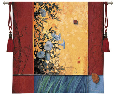 Artist'S Garden Contemporary Tapestry Fine Art Picture, 53in X 53in