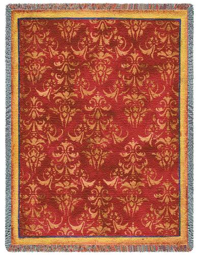 Aviary Damask Tapestry Throw, 53in x 70in
