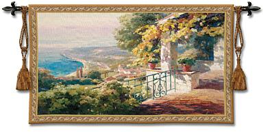Balcony Coastal Tapestry Wall Hanging, 53in X 30in