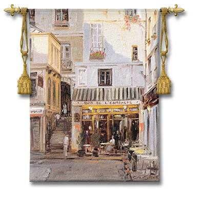 Bar De L'Entracte Tapestry Wall Hanging, 38in X 53in