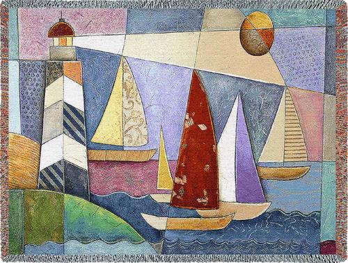 Bay Regatta Tapestry Throw, 70in x 54in