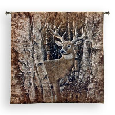 Birchwood Buck Animal Wall Tapestry, 52in X 50in