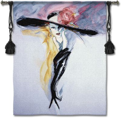 Black Gloves Tapestry Wall Hanging, 46in X 53in