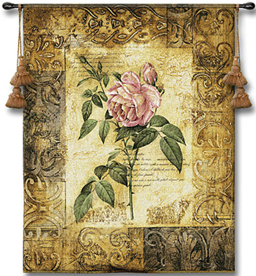 Blossoming Elegance I Botanical Tapestry - Contermporary Floral Design, 41in X 53in