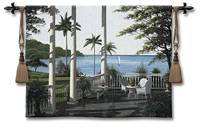 Caribbean Comfort Tapestry Wall Hanging, 53in X 40in